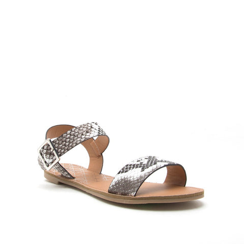 Synthetic snake Sandal