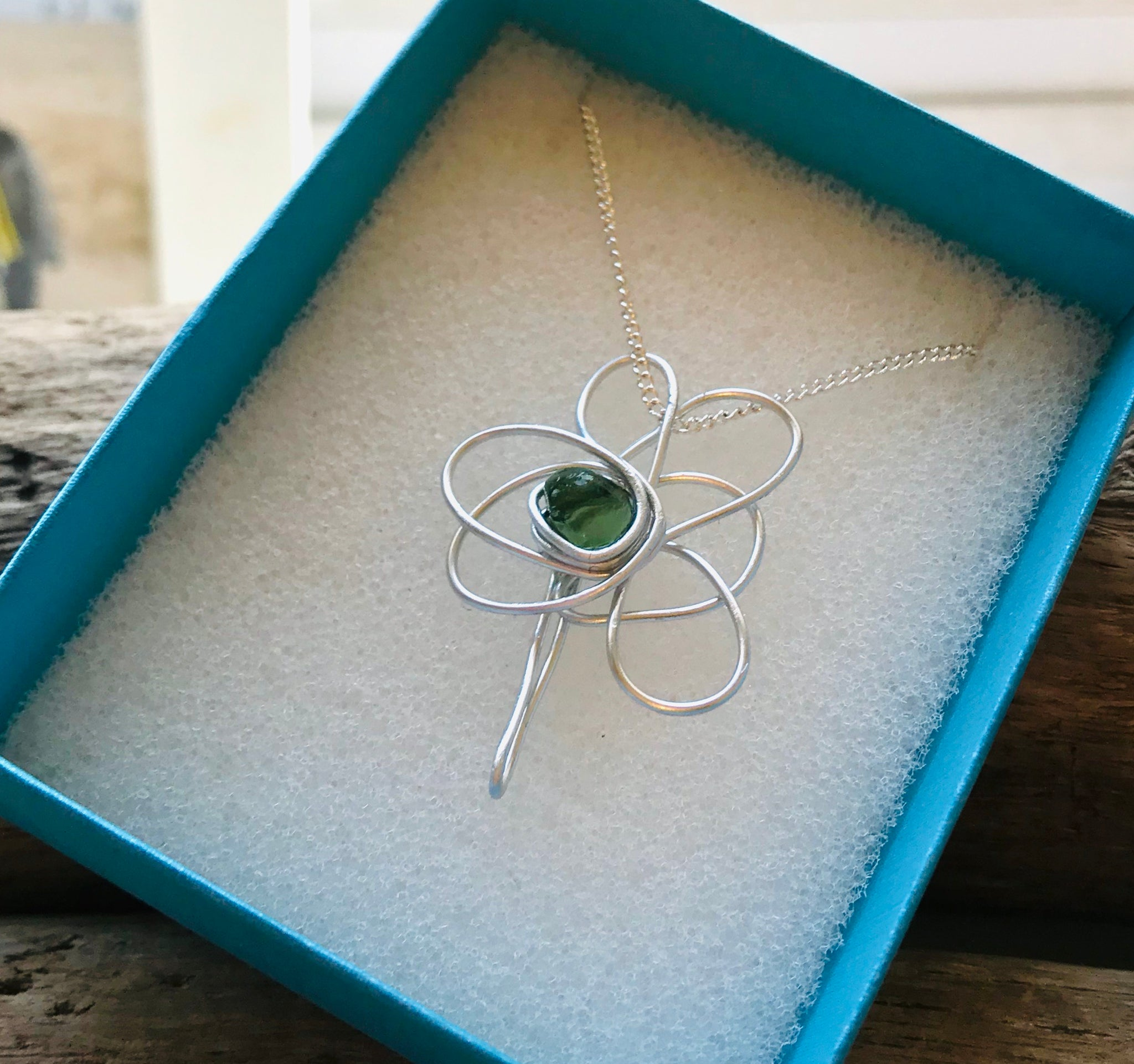 Seaham Sea Glass Shamrock Pendant