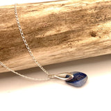 Blue Seaham Sea Glass Multicolour Sterling Silver Pendant