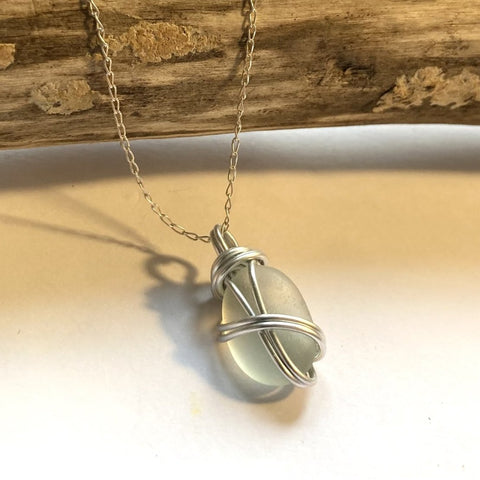 Seafoam Seaham Sea Glass Pendant