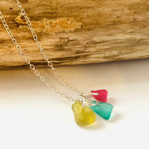 Trio Seaham Sea Glass Pendant