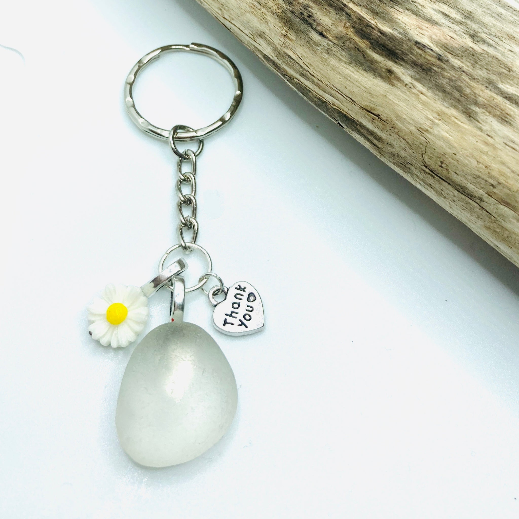 Teacher's Thank You Gift- Sea Glass Keyring