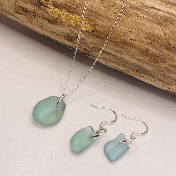 Aqua Green Devon Sea Glass Set
