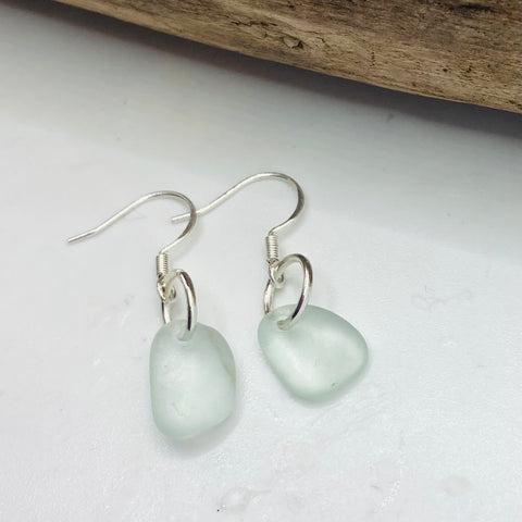 Devon Sea Foam Sea Glass Earrings