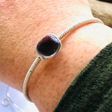 Very Rare Purple Seaham Sea Glass Wire Wrap Bangle