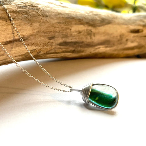 Green Seaham Sea Glass Multi Pendant