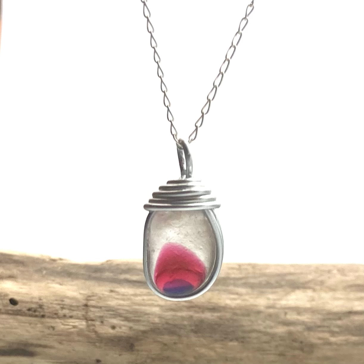 Stunning Pink and Purple Seaham Multi Pendant