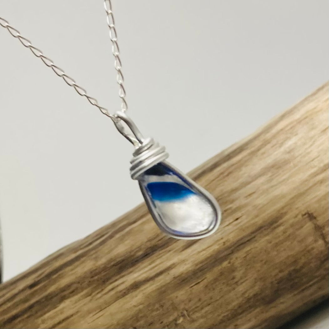 Small Seaham Sea Glass Multicolour Pendant