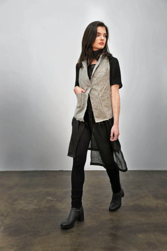 Waistcoat - LIMITED Linen Micro Plaid