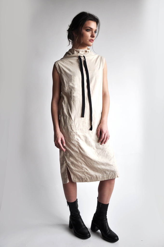 MYA LINEN DRESS - BLACK - NOCTEX - BUY NOW PAY LATER