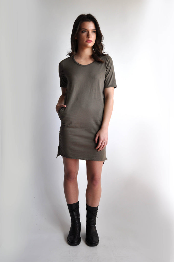 JAMIE TSHIRT DRESS - MOSS - NOCTEX - BUY NOW PAY LATER (754565972063)