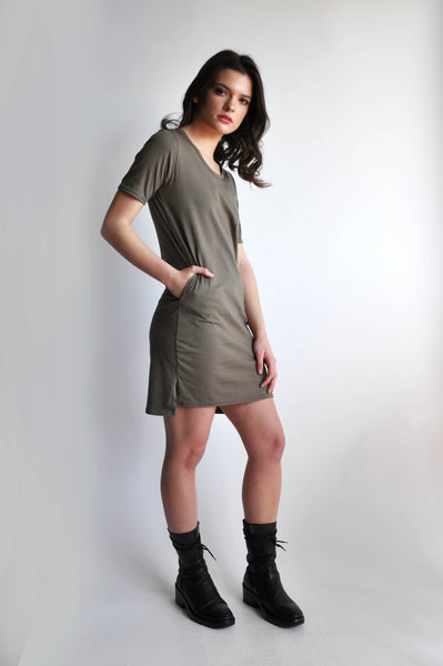 JAMIE TSHIRT DRESS - MOSS - NOCTEX - BUY NOW PAY LATER