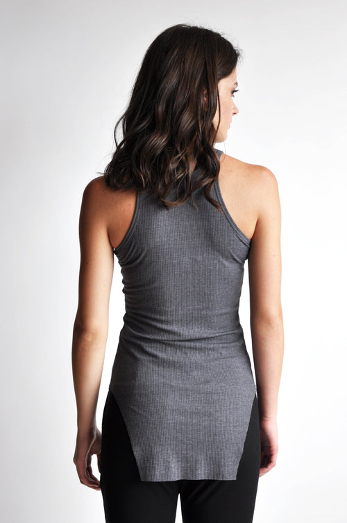 Squared Hem Tank - GREY - NOCTEX - BUY NOW PAY LATER (10867749770)