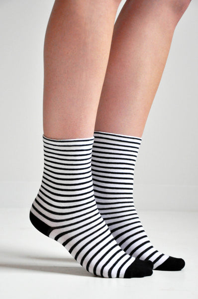 STRIPE SOCKS - WHITE - NOCTEX - BUY NOW PAY LATER