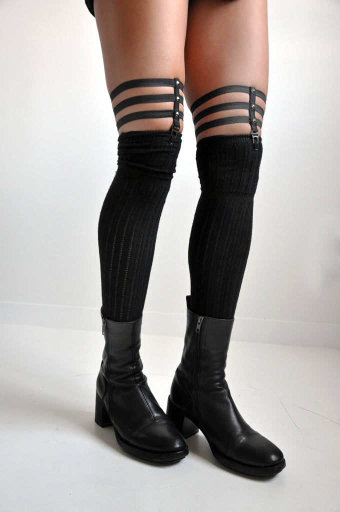Skeleton Sock Garters - STUDDED