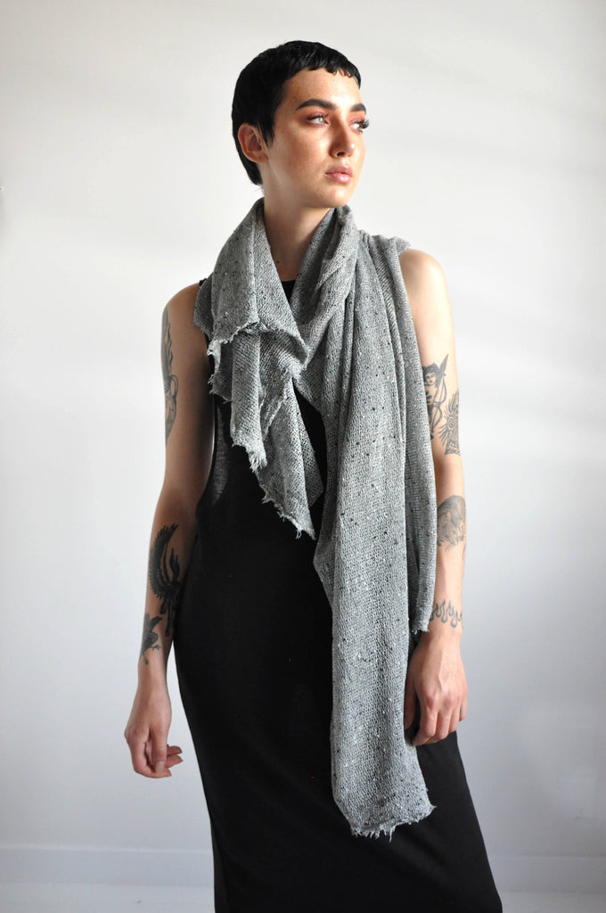 Open Knit Scarf - GREY BLEND [LIMITED]