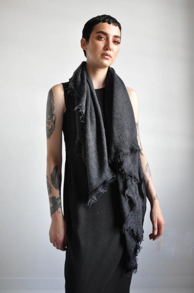 Open Knit Scarf - MIDNIGHT [LIMITED] (3994631864392)