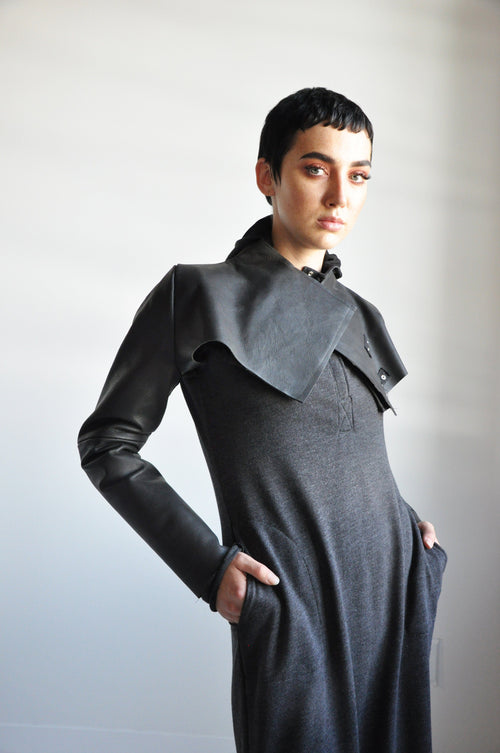 LEATHER SHRUG - Shop Noctex
