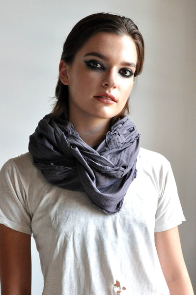 INDIGO PATCHWORK SCARF - NOCTEX - BUY NOW PAY LATER