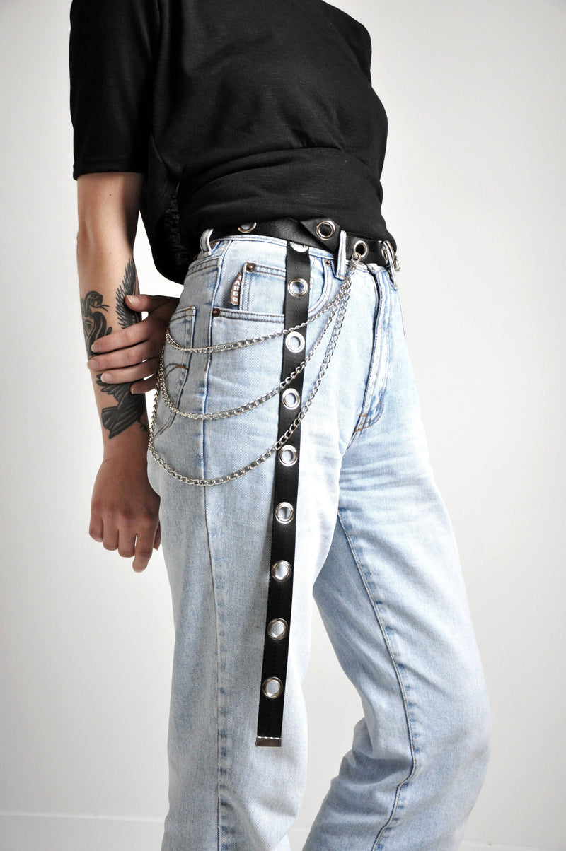 TWILL EYELET BELT - NOCTEX - BUY NOW PAY LATER (4039328170056)