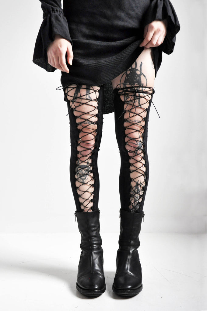 LACE UP LEG WARMERS - NOCTEX - BUY NOW PAY LATER (4174785249352)