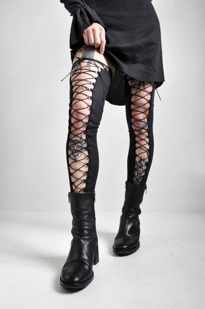 LACE UP LEG WARMERS [PRE-ORDER]