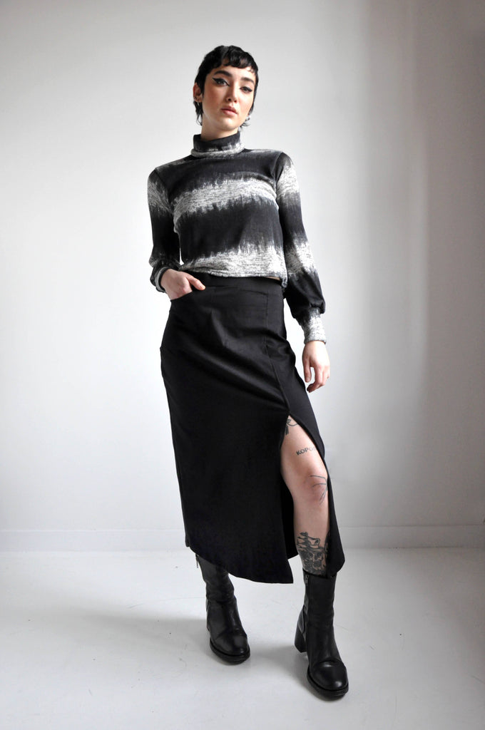 KNIT MIDI SKIRT - NOCTEX - BUY NOW PAY LATER (4287552290888)
