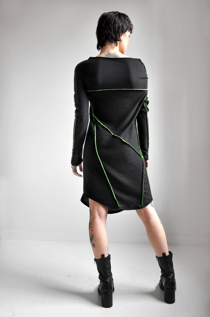 SPLICE DRESS - CIRCUIT GREEN (4447049351240)