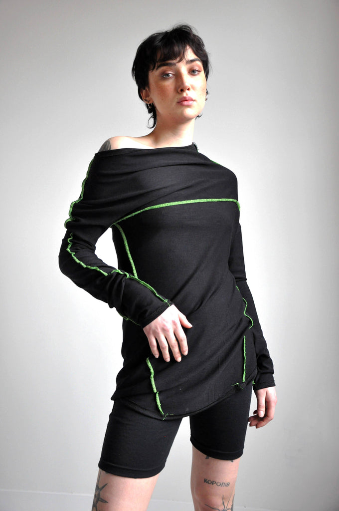 Splice Longsleeve - CIRCUIT GREEN (4431779561544)