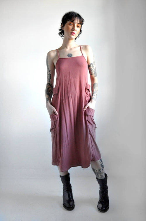 CARGO DRESS - DUSTY ROSE [LIMITED] - NOCTEX - BUY NOW PAY LATER (4437859369032)
