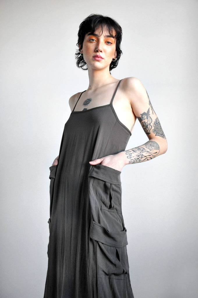 CARGO DRESS - SLATE [LIMITED] - NOCTEX - BUY NOW PAY LATER