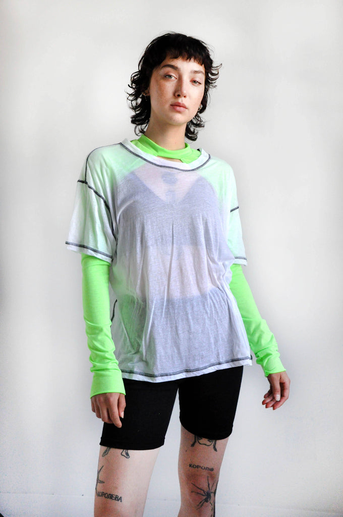 AYLA SHRUG - ELECTRIC LIME - NOCTEX - BUY NOW PAY LATER