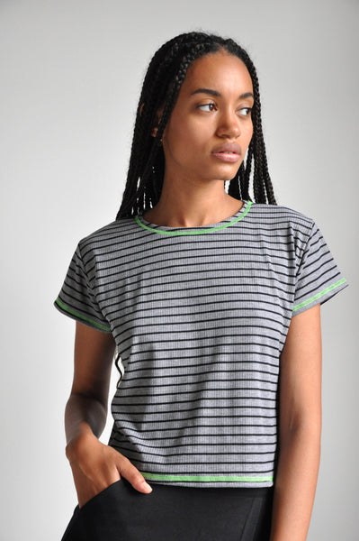 FLATLOCK TEE - GREY - NOCTEX - BUY NOW PAY LATER (5347957735580)