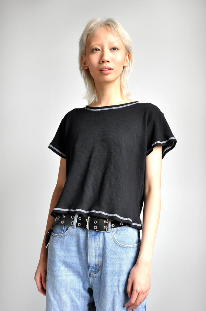 FLATLOCK TEE - BLACK - NOCTEX - BUY NOW PAY LATER