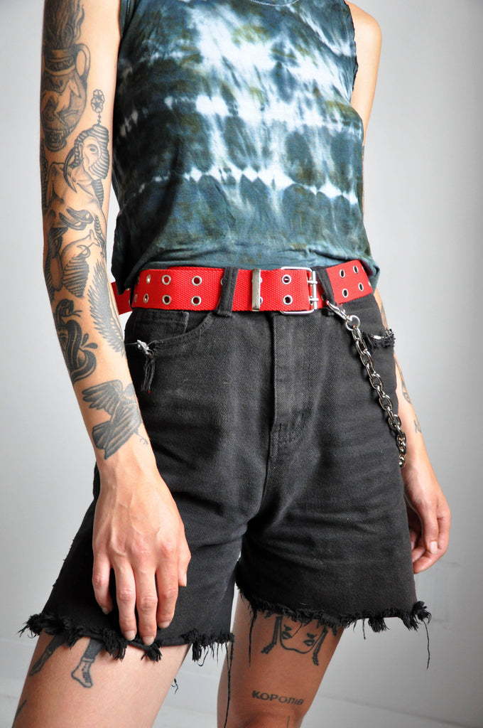 Y2K CANVAS BELT - RED - NOCTEX - BUY NOW PAY LATER