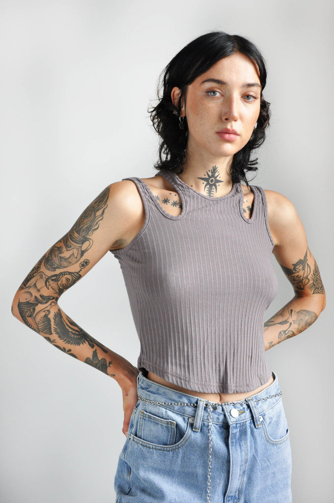 TESSERA TANK - TAUPE RIB - NOCTEX - BUY NOW PAY LATER