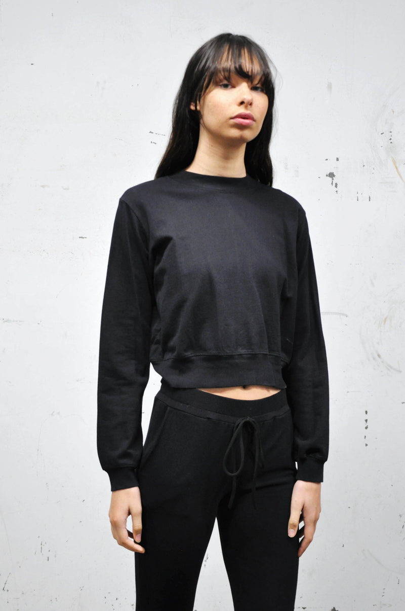 Crop Terry Pullover - Shop Noctex (6084785275075)
