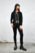 Soft Brushed Lace up Longsleeve - Shop Noctex