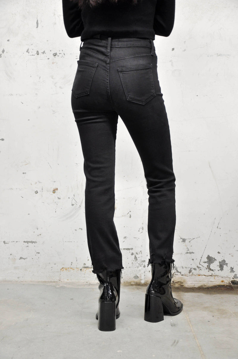 High Rise Destroyed Hem Jeans - Shop Noctex (6031272116419)