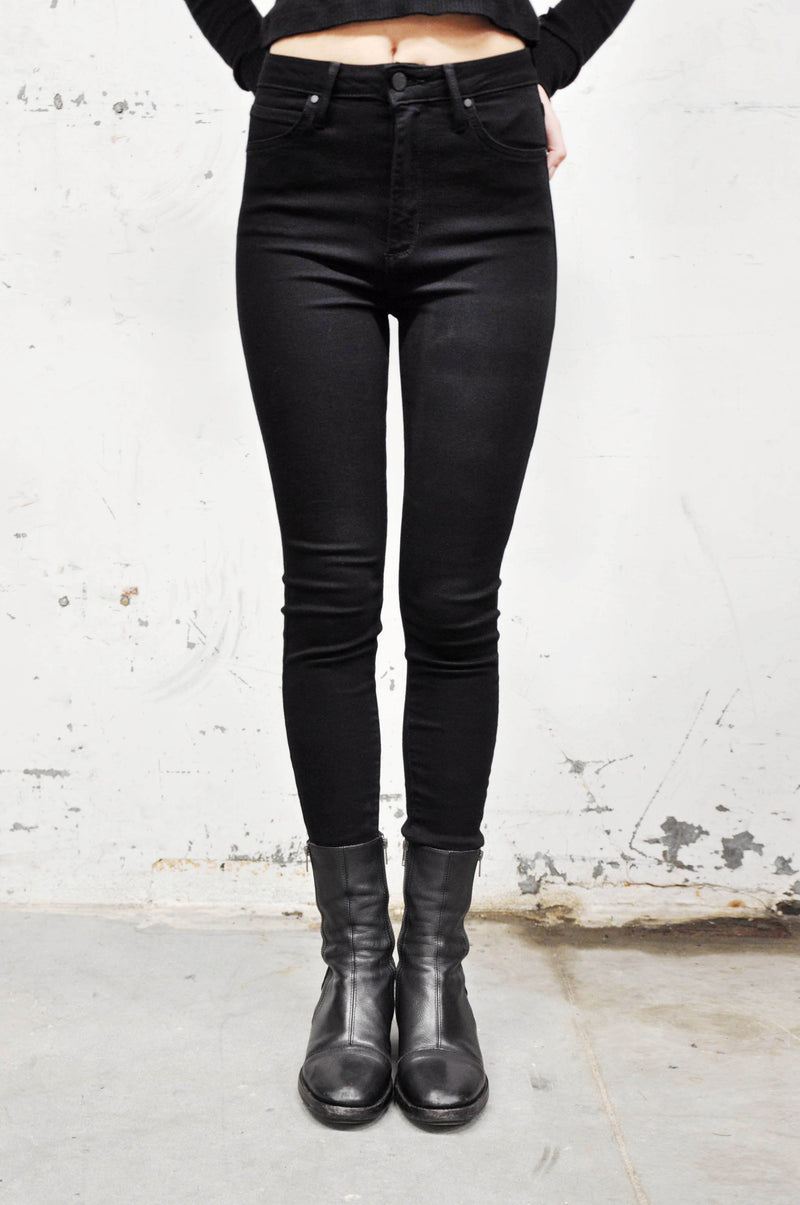 Black High Rise Classic Skinny Jeans - Shop Noctex