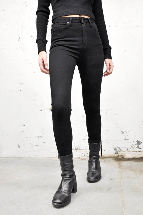 Black High Rise Classic Skinny Jeans - NOCTEX - BUY NOW PAY LATER (6031273230531)