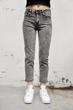 Black Acid Wash Mom Jean - NOCTEX - BUY NOW PAY LATER