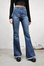 High Rise Blue Bell Bottom Jeans (6084745724099)