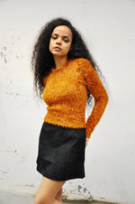 Debbie Fuzzy Sweater - RUST - NOCTEX - BUY NOW PAY LATER