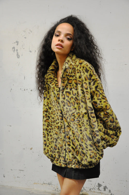 Leopard Zip Up Jacket - Shop Noctex (6128197042371)