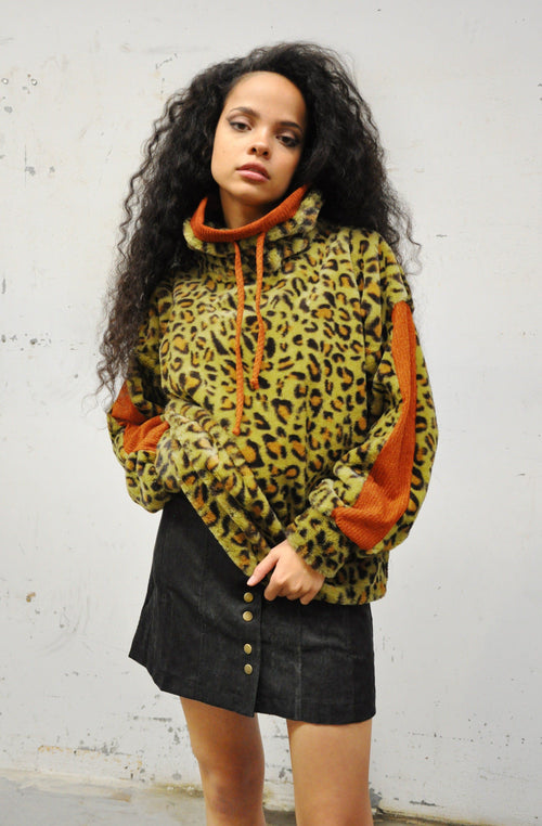 Retro Hues Leopard Pullover Sweater - Shop Noctex (6084746215619)