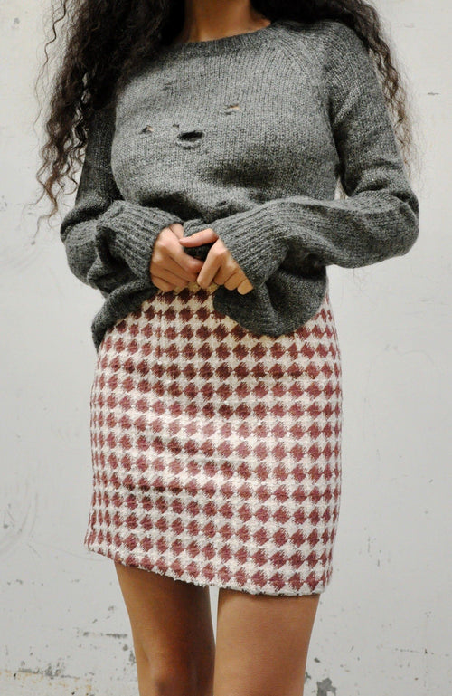 Minnie Tweed Skirt - NOCTEX - BUY NOW PAY LATER (6084783669443)