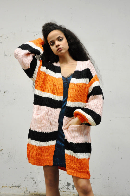 BISHOP Orange Hue Cardigan - Shop Noctex (6084758700227)