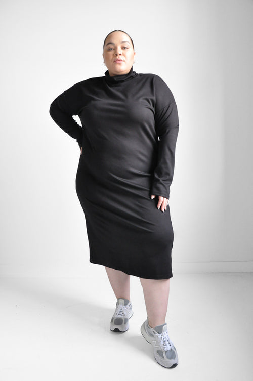 Copy of Beatrice Dress - Charcoal (6616659001539)