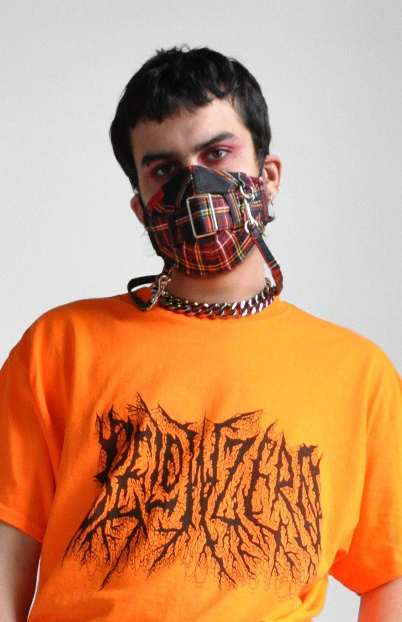 BONDAGE RED PLAID FACE MASK - Shop Noctex (6256703176899)